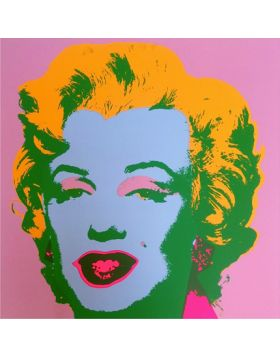 11.28 MARILYN MONROE - BLONDE ON PINK - serigrafia di Andy Warhol