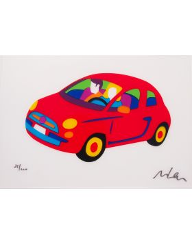 Fiat 500 Fluo rouge