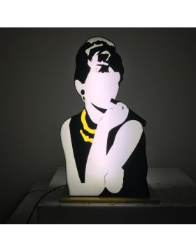 Audrey Hepburn (Scultura in perspex luminosa)
