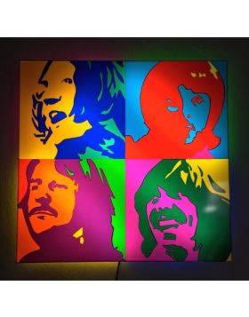 The Beatles - (Sculpture en perspex lumineuse)