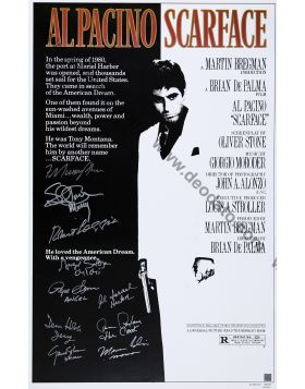 Scarface Poster Firmato